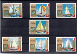 GUINEE EQUATORIALE MICHEL 200/206** SUR LES VOILIERS DE LA COURSE TRANSATLANTIQUE - Guinea Ecuatorial