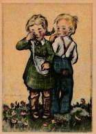 Künstler AK Holweg : Junge U. Weinendes Mädchen - Karte Nicht Gel. - Künstlerkarten
