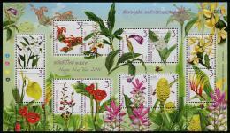 THAÏLANDE 2015 - Fleurs, Orchidées - Feuillet 12val Neufs // Mnh - Thailand