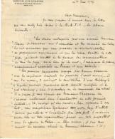 VP3613 - Tabac - Lettre De Mr Louis CHAVANNE à PARIS Pour Mr SCHLOESING - Dokumente