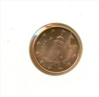 SAN MARINO 2004, 1, 2, & 5 Cent,   UNC - San Marino
