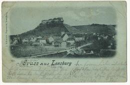 Gruss Aus Lenzburg Edit J. Albrecht P. Used 1898 Defauts Plis Coins - AG Argovia