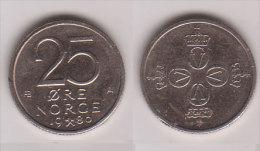 Norwegen , 25 Öre , 1980 ( G.Schön 68 ) - Noorwegen