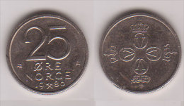 Norwegen , 25 Öre , 1980 ( G.Schön 68 ) - Norvegia
