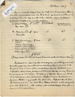 VP3614 - Tabac - Lot De Documents De Recherches Sur Les Tabacs De  Mr SCHLOESING à PARIS - Documents