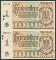 """Deutschland, Germany - """" REICHSLOTTERIE """", """" 2 X ORIGINALLOS, FOTO & DOKUMENT Der NSDAP """" 1937 ! - [ 4] 1933-1945 : Third Reich"""