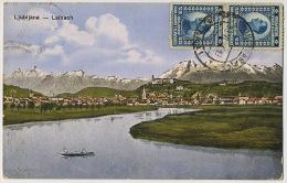 Ljubljana Laibach Used To La Queur En Yvenines France  Edit LJF 1917 - Slovénie