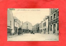 COUERON  ARDT NANTES   1907  LA PLACE DE L EGLISE    CIRC  OUI  EDIT - France