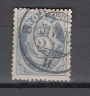 Norway Norge 1872,1V, TO SKILLING,Mi.17b,graublau,signed,nice Used/Gestempeld(A2366) - Norvège