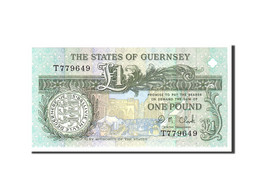Guernsey, 1 Pound, 1991, KM:52c, Undated, NEUF - Guernesey