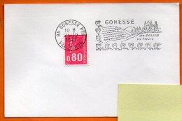 95 GONESSE   SES EGLISES  24  / 10 / 1977 Lettre Entière N° W 960 - Annullamenti Meccanici (pubblicitari)