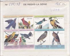 1985 NEVIS 271-78** Audubon, Oiseaux , Premiere Série - St.Kitts-et-Nevis ( 1983-...)