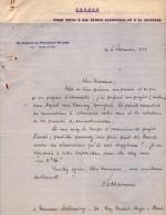 VP3618 - Tabac - Lettre De Mr Louis CHAVANNE à PARIS Pour Mr SCHLOESING - Dokumente