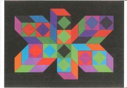 CPM Arts - Victor Vasarely - Tridim - 1968 - Peintures & Tableaux