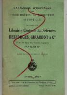 Catalogue D'ouvrages Sur L'horlogerie , La Bijouterie Et L'optique  1927 - Petits Métiers