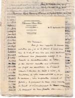 VP3621 - Tabac - Lettre De Mr  CHAVANNE BRUN Frères à PARIS Pour Mr SCHLOESING - Documenti