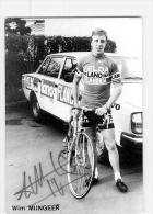 Wim MIJNGEER , Autographe Manuscrit, Dédicace . 2 Scans. Velda Lano Flandria 1978 - Wielrennen
