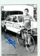 Paul VERSCHEURE , Autographe Manuscrit, Dédicace . 2 Scans. Velda Lano Flandria 1978 - Radsport