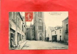 COUERON  ARDT NANTES 1910 LA  BOULANGERIE PLACE DE L EGLISE   CIRC OUI  EDIT - Frankrijk