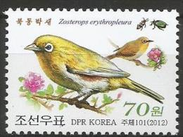 North Korea - MNH - Family WHITE-EYES - Chestnut-flanked White-eye ( Zosterops Eurythropleurus ) - Zangvogels