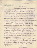 VP3623 - Tabac -  Lettre & Projet De Mr Louis CHAVANNE à PARIS Pour Mr SCHLOESING - Documenti