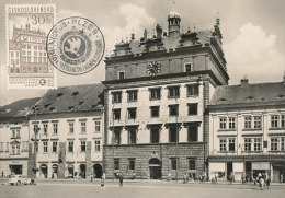 D22490 CARTE MAXIMUM CARD 1959 CZECHOSLOVAKIA - PLZEN CITY HALL CP ORIGINAL - Architecture