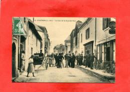 COUERON  ARDT NANTES 1910 LE BAS GRANDE RUE AVEC COMMERCE VENTE REPARATION DE VELO A DROITE   CIRC OUI  EDIT - France