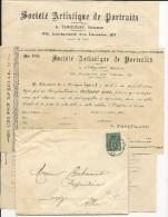 SAGE - 1894 - ENVELOPPE + LETTRE De PARIS Avec CACHET Des IMPRIMES PP - BEL ENSEMBLE - Postmark Collection (Covers)
