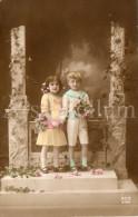 Postcard / CP / Postkaart / Girl / Fille / Boy / Garçon / Ed. REX / No 4769 / 1914 - Grupo De Niños Y Familias