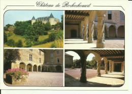 CHATEAU DE ROCHECHOUART  XIIIe Et XVe Siecle - Vue Panoramique Et Vue De La Cour . - Rochechouart