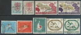 Papua  New Guinea  1962-3  9 Diff Used  2016 Scott Value $3.90 - Papua-Neuguinea