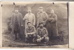 29  Brest Dépot Convalescents N°4 De Kervallon. Carte Photo De Soldats. Tb état 1915. - Brest