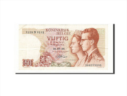 Belgique, 50 Francs, 1964-1966, KM:139, 1966-05-16, TTB - [ 6] Treasury