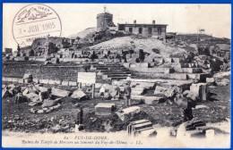 CPA N° 82 PUY DE DOME RUINES DU TEMPLE DE MERCURE AU SOMMET AVEC LE TAMPON DU SITE OBSERVATOIRE 03 JUILLET 1905 - Clermont Ferrand