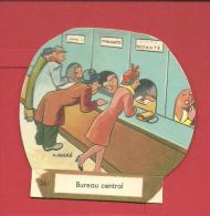 CHROMO Carte Ou Image à Poser - BUREAU CENTRAL N° 34 - Illustration A DUCRE  Fromagerie GROSJEAN LA VACHE SERIEUSE - Vieux Papiers