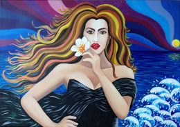 Bellezza  Al  Vento - Quadro Acrilico  - Artista   Tiziana  Pantalone - Acrilici