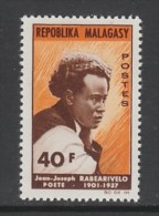 TIMBRE NEUF DE MADAGASCAR - JEAN-JOSEPH RABEARIVELO, POETE N° Y&T 407 - Writers