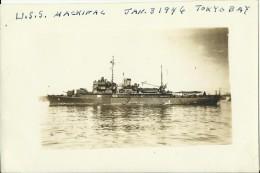 UNITED STATES   --  ORIGINAL PHOTO  -- SHIP  --  USS  MACKINAC ( AVP - 13 )  -- JAN. 3  1946 IN TOKYO BAY  --  PC FORMAT - Boats