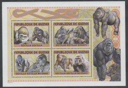 GUINEA , 2002 , MNH, PRIMATES. GORILLAS,  SHEETLET, - Gorillas