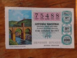 Loteria Nacional 1977 - Billets De Loterie