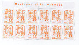 "ANCE 2013  Marianne De La Jeunesse DE CIAPPA (Y.T.  4763)  Bloc De 12 Avec Entéte 'marianne De La Jeunesse"" - 2010-...."