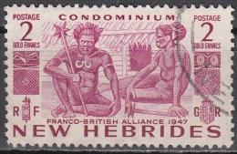 Nouvelles Hebrides 1953 Michel 150 O Cote (2005) 16.00 Euro Indigènes Cachet Rond - Légende Anglaise