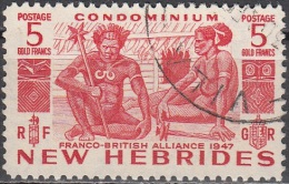 Nouvelles Hebrides 1953 Michel 151 O Cote (2005) 55.00 Euro Indigènes Cachet Rond - Légende Anglaise