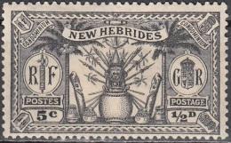Nouvelles Hebrides 1925 Michel 77 Neuf * Cote (2005) 2.20 Euro Armoirie - Légende Anglaise