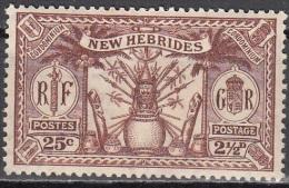 Nouvelles Hebrides 1925 Michel 80 Neuf * Cote (2005) 1.80 Euro Armoirie - Légende Anglaise
