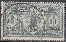 Nouvelles Hebrides 1912 Michel 49 O Cote (2005) 5.00 Euro Armoirie Cachet Rond - Légende Française