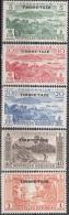 Nouvelles Hebrides 1957 Michel Taxe 41 - 45 Neuf ** Cote (2005) 17.00 Euro Paysages - Légende Française