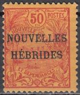 Nouvelles Hebrides 1908 Michel 13 Neuf * Cote (2005) 12.00 Euro Rade De Nouméa - Légende Française
