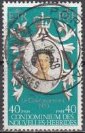 Nouvelles Hebrides 1978 Michel 517 O Cote (2005) 1.50 Euro Reine Elisabeth II Cachet Rond - Légende Française
