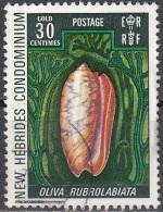 Nouvelles Hebrides 1972 Michel 328 O Cote (2005) 1.00 Euro Coquillage Oliva Rubrolabiata Cachet Rond - Légende Anglaise